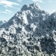 Mountains In Snow And Clouds At Blue Sky - VideoHive Item for Sale