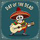 Day of the Dead Mexican Musician - GraphicRiver Item for Sale