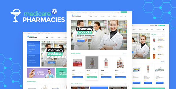 Medicare Pharmacies - Healthcare WordPress Theme - WooCommerce eCommerce