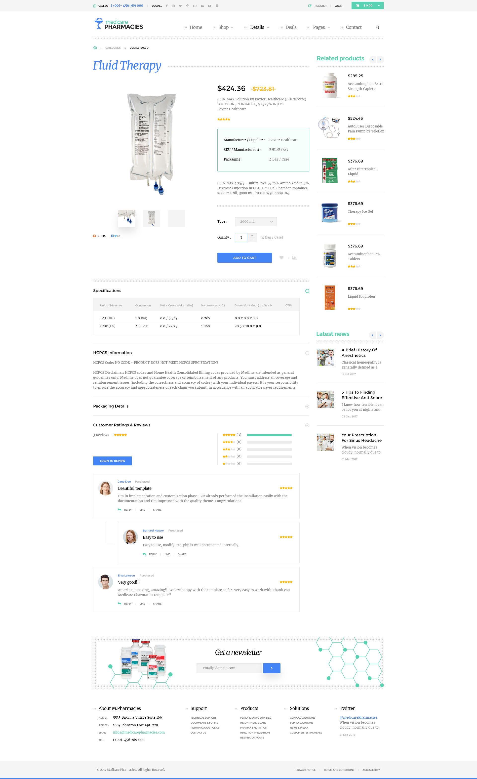 medicare pharmacies healthcare wordpress theme by themelexus