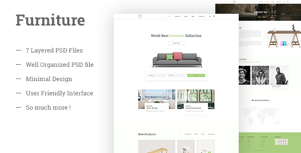 Furniture E Commerce PSD Template by shohag4y | ThemeForest