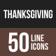 Thanksgiving Line Multicolor Icons