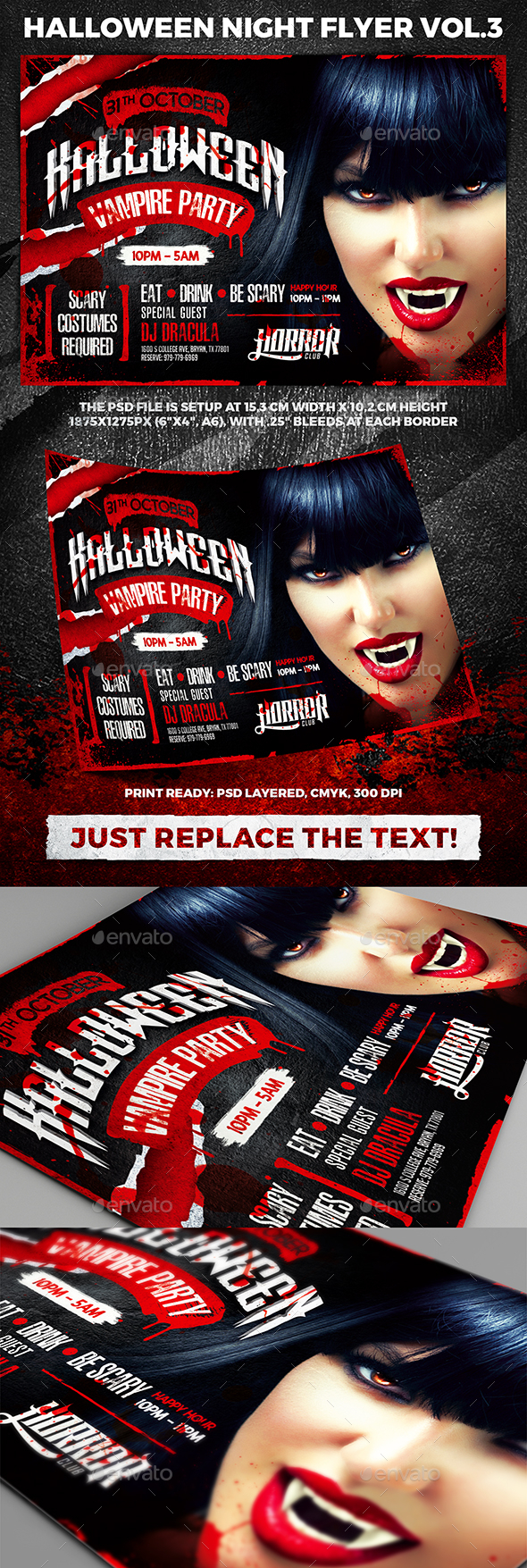Halloween Night Party Flyer vol.3