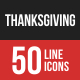 Thanksgiving Filled Line Icons