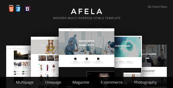 Afela | Flexible Multi-Purpose HTML5 Template