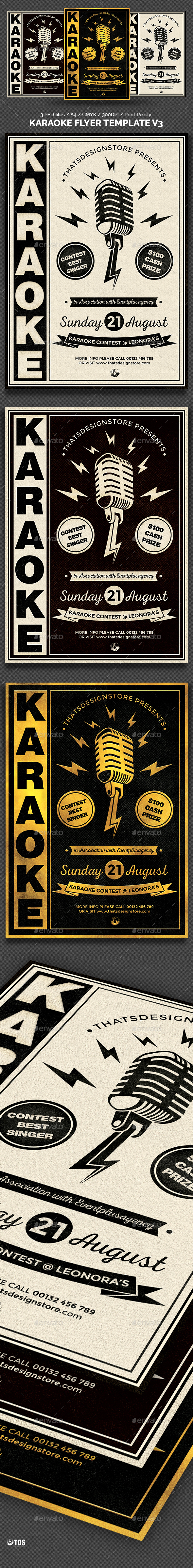 Karaoke Flyer Template V3 - Clubs & Parties Events