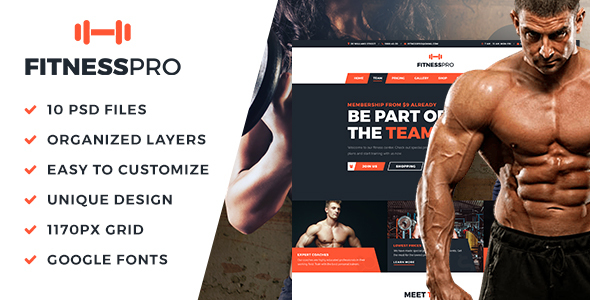 FitnessPro_PSD_Template - Health & Beauty Retail