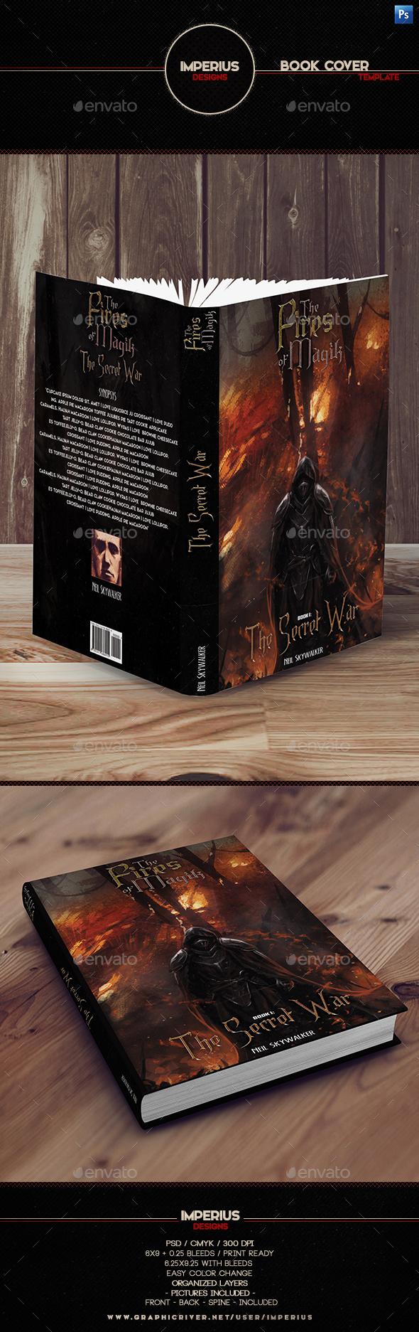 The Secret War Book Cover - Miscellaneous Print Templates