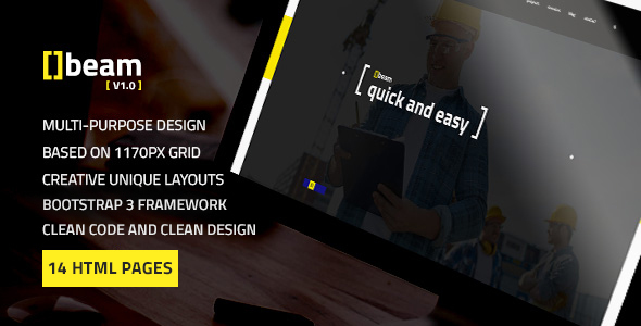 Beam — Modern Multipurpose HTML Template for Construction Business