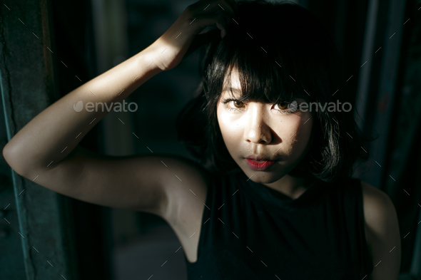 Asian Ethnicity Teen Feminist Posing Lady Girl Concept - Stock Photo - Images