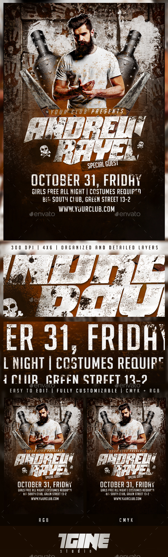 Halloween Special Guest Flyer Template