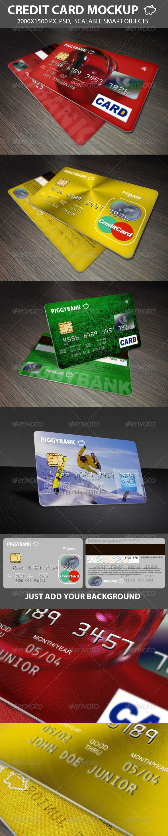 Credit Cards Mockup - Miscellaneous Product Mock-Ups