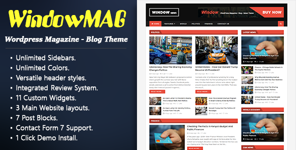 WindowMag – Responsive News / Magazine / Blog Theme