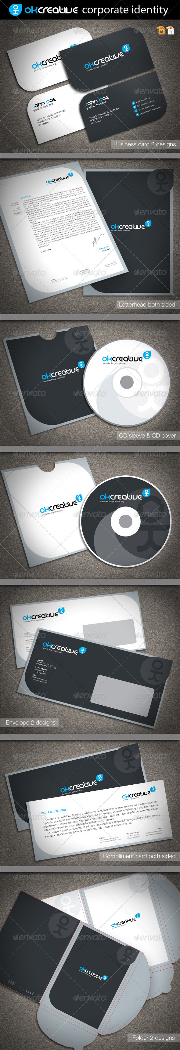 OK Creative Corporate Identity - Stationery Print Templates