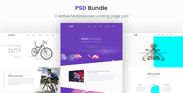 Creative Web PSD Bundle