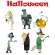 Set of Different Halloween Cartoon Monsters - GraphicRiver Item for Sale