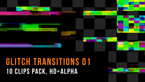 Glitch Transitions Pack 01