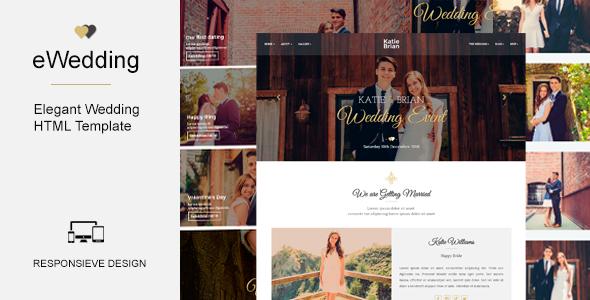 eWedding – Responsive HTML Wedding Template