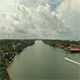 Helicopter Flying Over River Town - VideoHive Item for Sale
