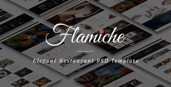 Flamiche - Elegant Restaurant PSD Template - Restaurants & Cafes Entertainment