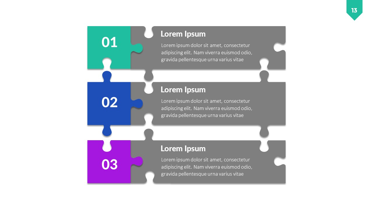 Puzzle Infographic PowerPoint Template by RRgraph | GraphicRiver