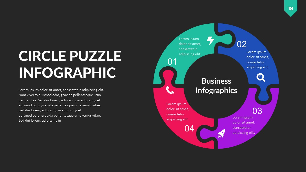 Puzzle Infographic PowerPoint Template by RRgraph   GraphicRiver