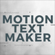 Motion Text Maker - VideoHive Item for Sale