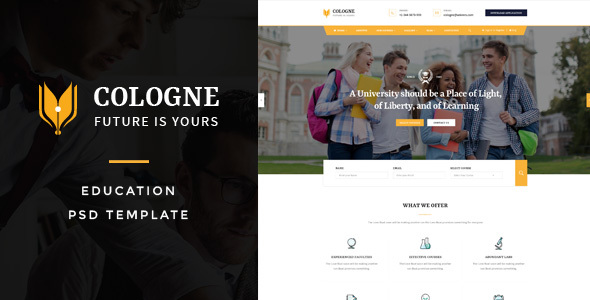 Cologne : Education PSD Template
