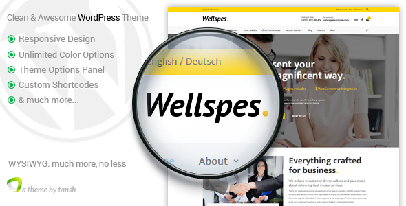Wellspes – Company, Industry, Business & Finance WordPress Theme