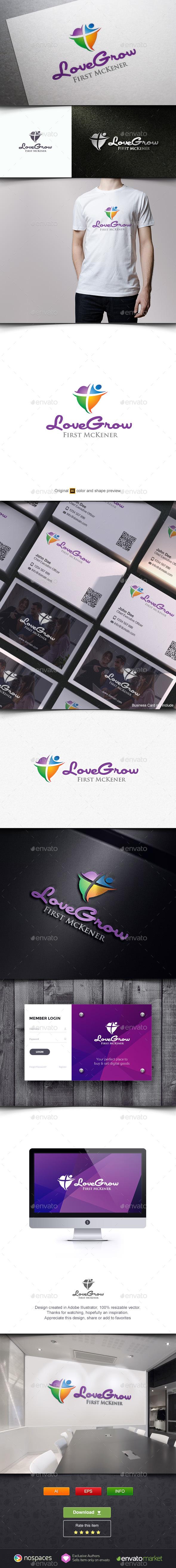 Love Grow - Humans Logo Templates