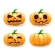 Cartoon Pumpkin Head Set Spooky Halloween - GraphicRiver Item for Sale