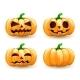 Cartoon Pumpkin Head Set Spooky Halloween - GraphicRiver Item for Sale