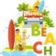 Beach Surfer Set - GraphicRiver Item for Sale