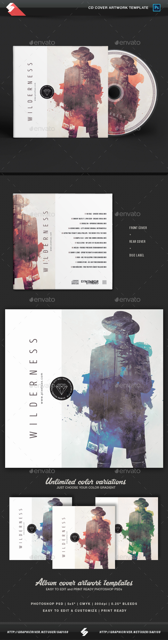 Wilderness - Creative CD Album Cover Template by Sao108 ...