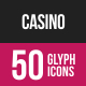 Casino Glyph Inverted Icons