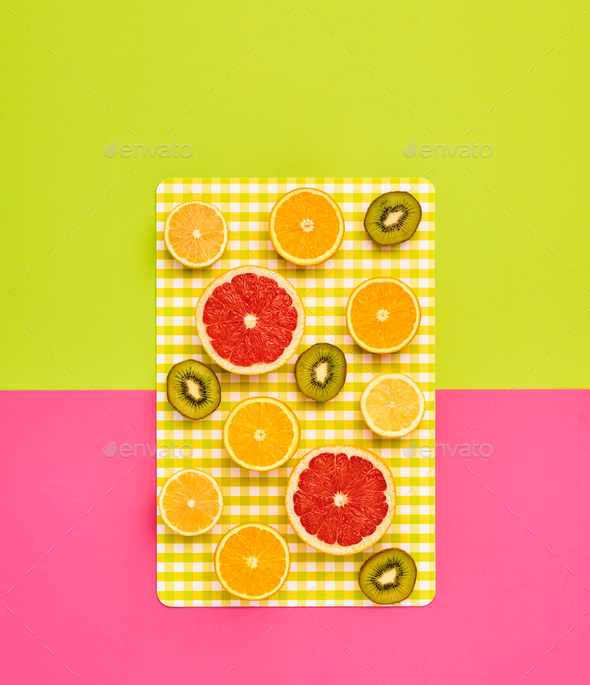 Fashion Summer Tropical fruit. Minimal Art Design - Stock Photo - Images
