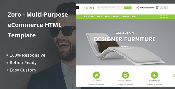 Zoro – Multi-Purpose eCommerce HTML Template