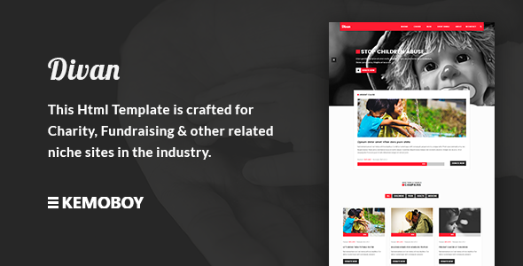 Divan – Charity, Donation & Fundraising HTML Template