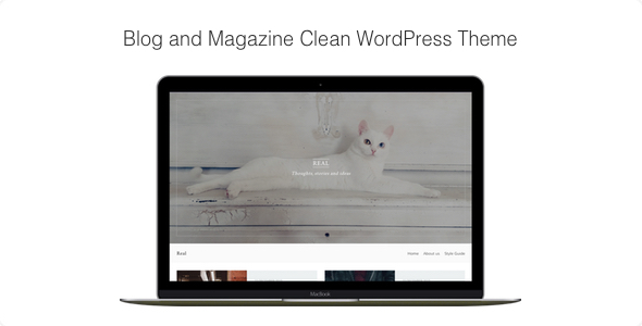 Real – Blog and Magazine Clean WordPress Theme