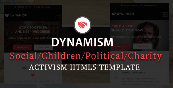 Dynamism Responsive Activism HTML5 Template