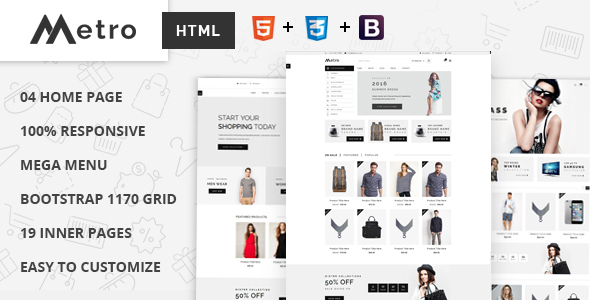 Metro – E-Commerce HTML5 Template