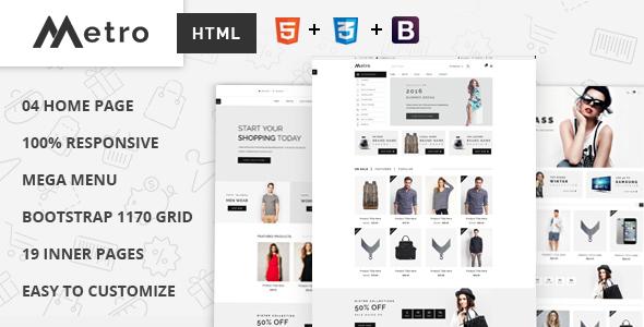 Metro - E-Commerce HTML5 Template