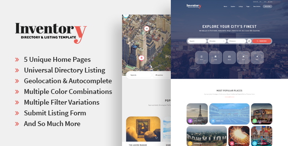 Inventory - Responsive Directory Geolocation & Listings HTML5 Template - Miscellaneous Site Templates