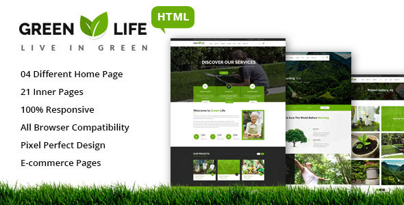 GreenLife – Gardening and Landscaping HTML5 Template