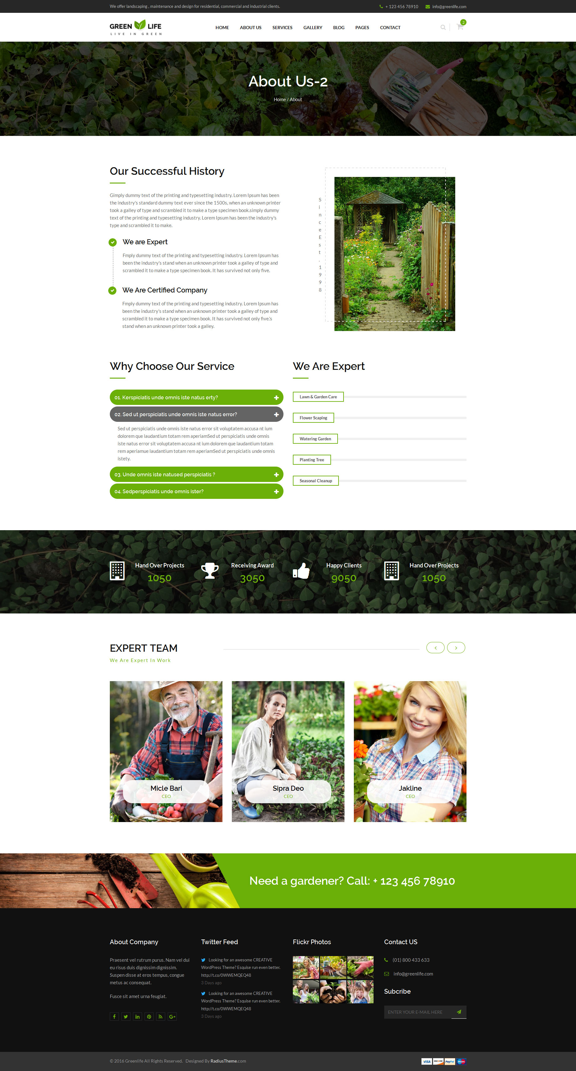 GreenLife - Gardening and Landscaping HTML5 Template by RadiusTheme
