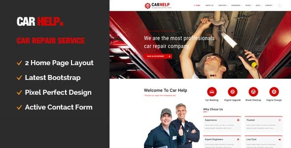 Car Help || Auto Mechanic & Car Repair Template