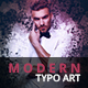 Modern Typo Art | PS Action - GraphicRiver Item for Sale