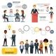 Teamwork And Partnership Business Infographics Set - GraphicRiver Item for Sale
