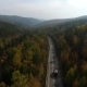 Video Drone Aerial View Over The Road In The Forest On The Way To Lake Baikal - VideoHive Item for Sale