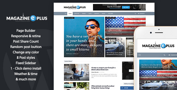 MagazinePlus – WordPress Premium theme for News / Magazine / Newspaper